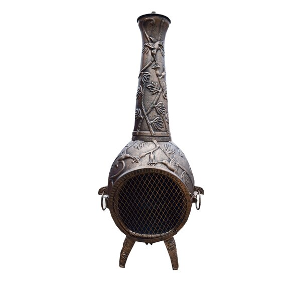 Hummingbird Cast iron Wood Burning Chiminea by Oakland Living