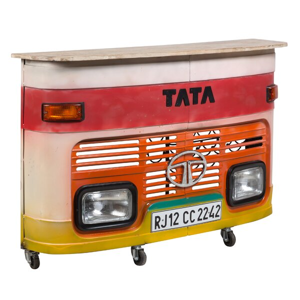 Durrant Truck Bar Cart by 17 Stories