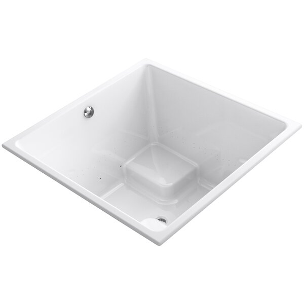 Underscore 48 x 48 Drop-in BubbleMassage Air Bathtub with Bask Heated Surface and Center Drain by Kohler