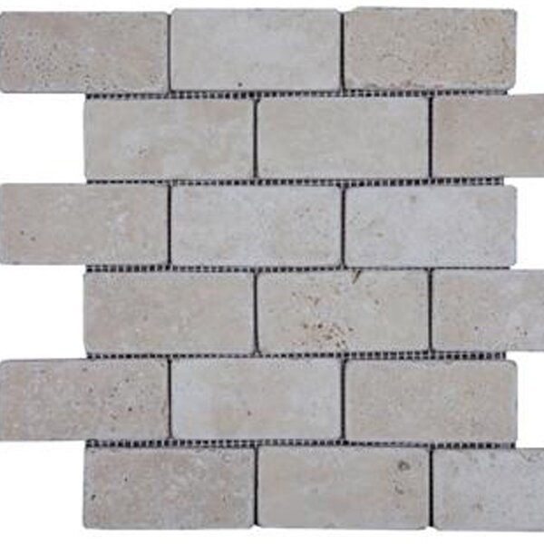 2'' x 4'' Travertine Subway Tile in Beige by Epoch Architectural Surfaces