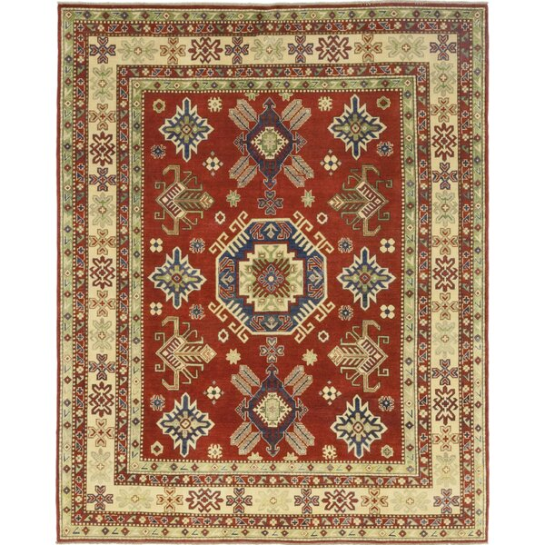 One-of-a-Kind Dicarlo Hand-Knotted Wool Red Indoor Area Rug by Isabelline