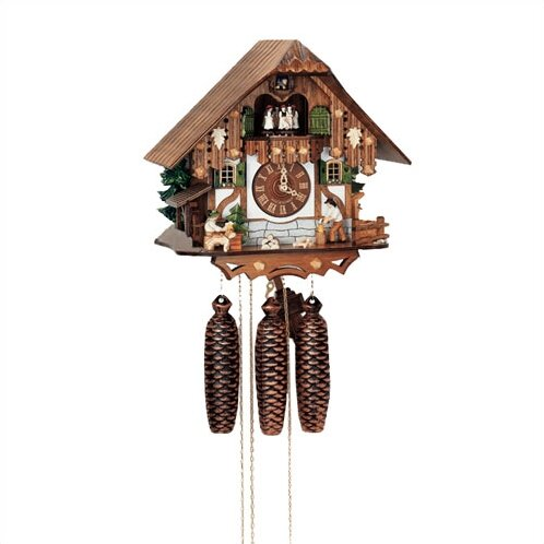12.5 8-Day Movement Cuckoo Clock with Tudor Style House by Schneider