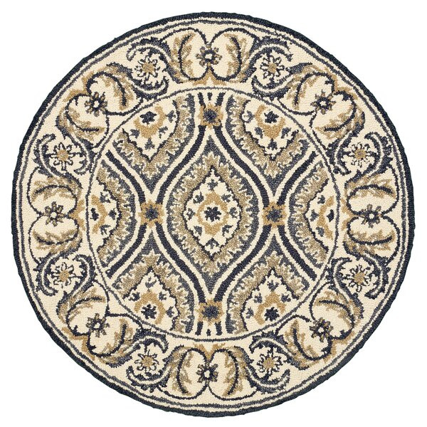 Arla Ogee Medallion Cream/Gray Area Rug by Darby Home Co