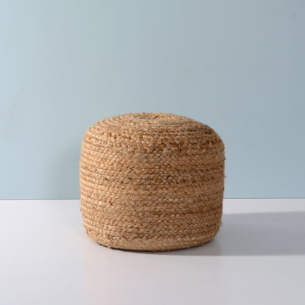 Tibbs Upholstered Round Pouf by Bungalow Rose