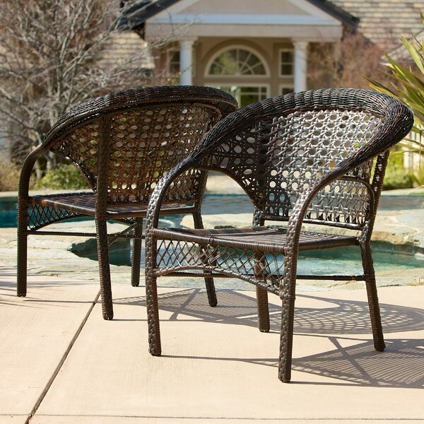 Darlington Outdoor Wicker Chairs (Set of 2) by Home Loft Concepts