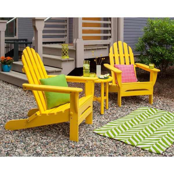 Classic Folding Adirondack 3-Piece Seating Group by POLYWOOD®