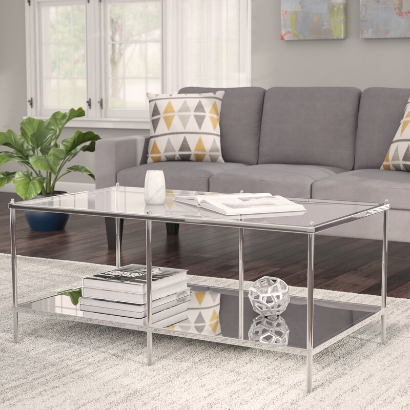 mirrored coffee tables Mirrored Coffee Tables to Upgrade Your Living Space Busey Glam Mirrored Coffee Table
