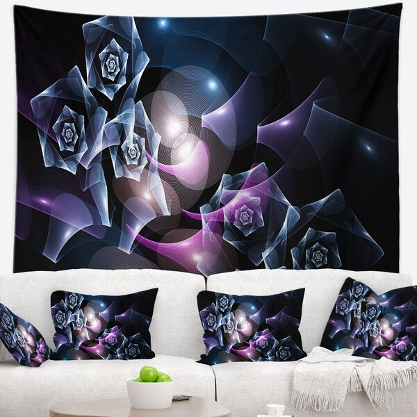 Abstract Glowing Bouquet of Beautiful Roses Tapestry by East Urban Home
