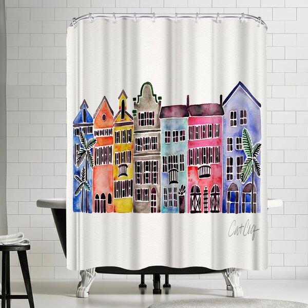 Rainbow Row Shower Curtain by East Urban Home