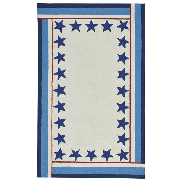 Wieland Freedom Beige/Blue Area Rug by Breakwater Bay