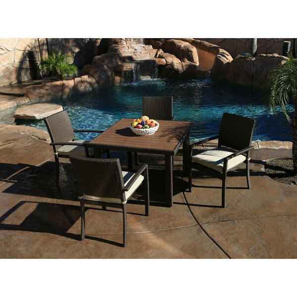Heffington Modern 5 Piece Dining Set with Cushion by Latitude Run