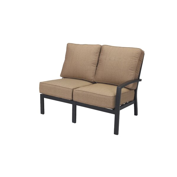 Kyree Left Arm Loveseat with Cushions by Darby Home Co