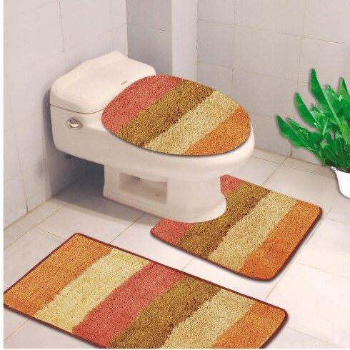 Denise 3 Piece Striped Bath Rug by Kashi Home