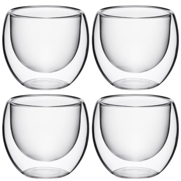 Ebling 4 oz. Glass Every Day Glasses (Set of 4) by Ebern Designs