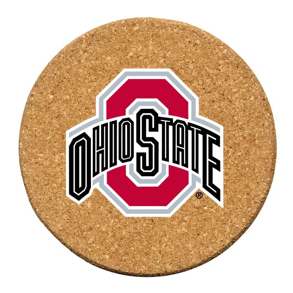 Ohio State University Cork Collegiate Coaster Set (Set of 6) by Thirstystone