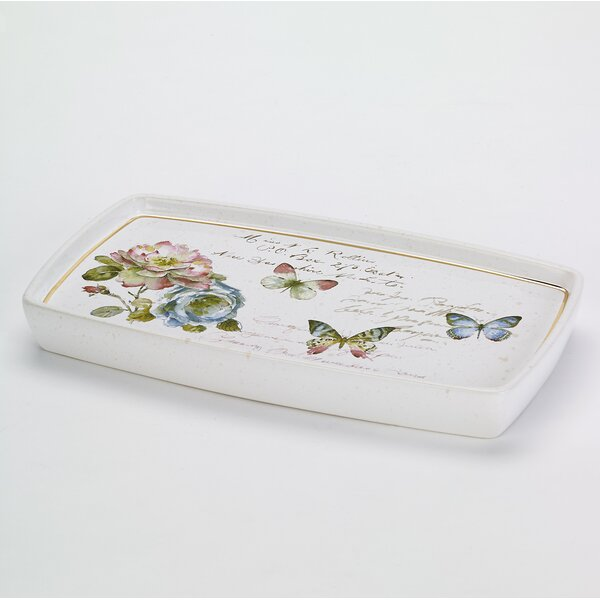 Butterfly Garden Shower Tray by Avanti Linens