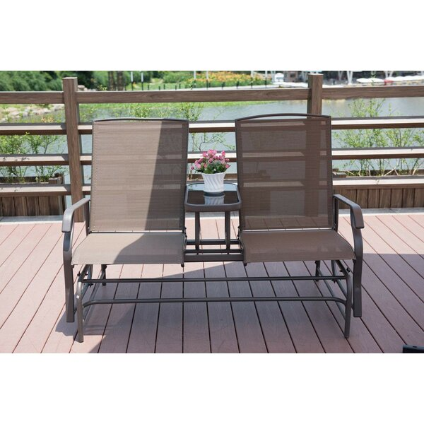 Kennewick Outdoor 2 Person Glider Bench by Red Barrel Studio