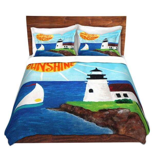 Graff nJoy Art Sunshine Lighthouse Microfiber Duvet Covers by Breakwater Bay