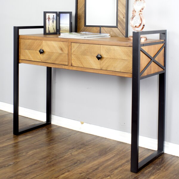 Review Delphine 2 Drawer Console Table