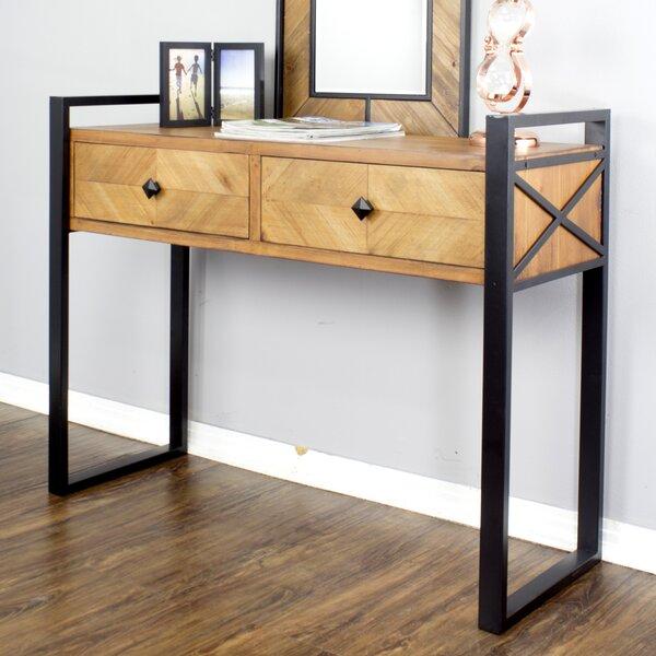 Patio Furniture Delphine 2 Drawer Console Table