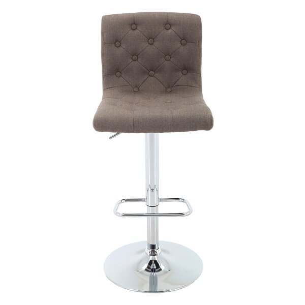 Aadhya Adjustable Height Swivel Bar Stool by Ebern Designs