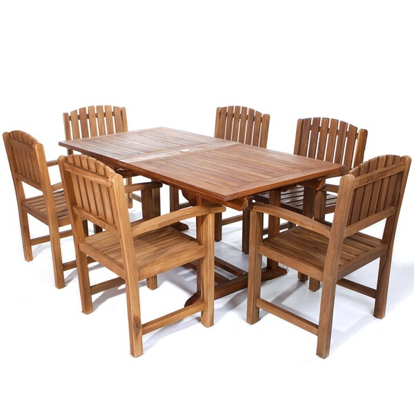 Humphrey 7 Piece Teak Dining Set by Longshore Tides