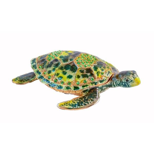 Glocester Sea Turtle Trinket Box Figurine by Bay Isle Home