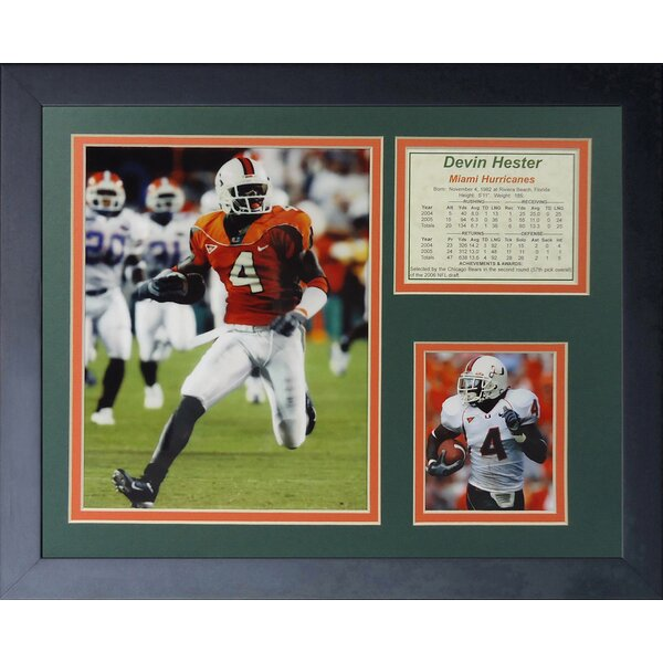 Devin Hester - Miami Hurricanes Framed Memorabilia by Legends Never Die