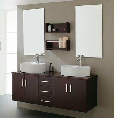 59 Double Bathroom Vanity Set with Mirror by Kokols