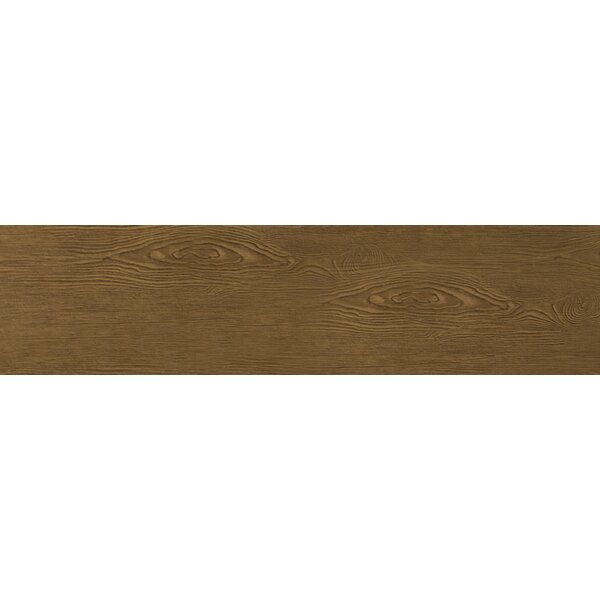 Alpine 6 x 36 Porcelain Wood-Look Plank Tile in Mocha by Emser Tile