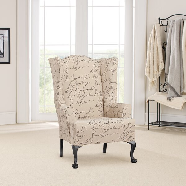 Pen Pal T-Cushion Wingback Slipcover By Sure Fit