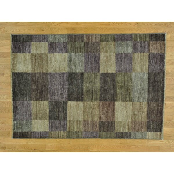 One-of-a-Kind Becker Hand-Knotted Gray/Brown Wool Area Rug by Isabelline