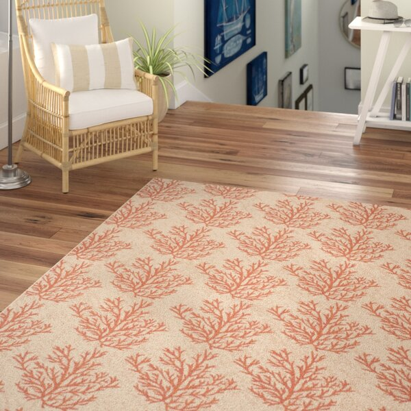 Inverness Highlands Beige & Terracotta Area Rug by Beachcrest Home