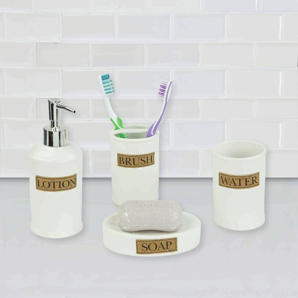 Dolomite 4 Piece Bathroom Accessory Set by Home Basics