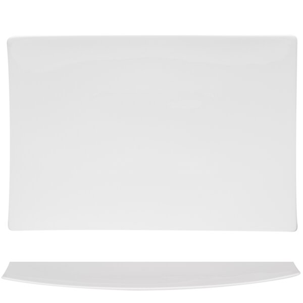 Extreme Rectangular Bone China Platter by Red Vanilla