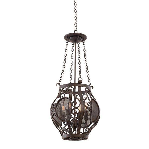 Isabel 4 - Light Lantern Geometric Chandelier By Kalco
