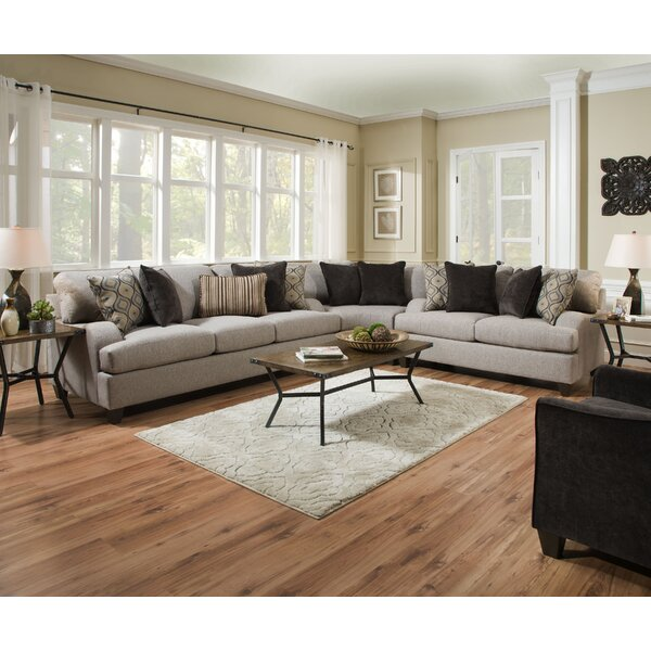 Hattiesburg Sterling Reversible Sectional by Three Posts Three Posts