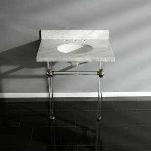 Buying Templeton Carrara Marble Rectangular Undermount Bathroom Sink with Overflow By Kingston Brass