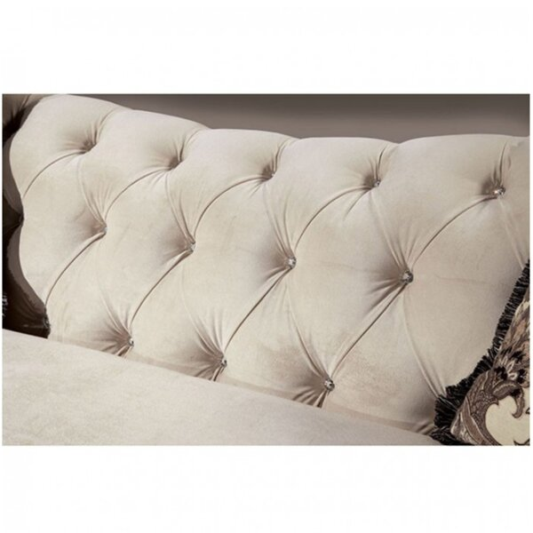 Lonergan Chesterfield Loveseat by Rosdorf Park