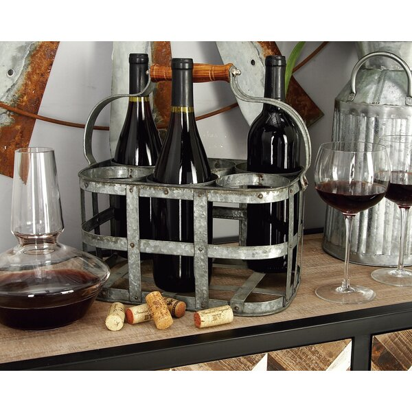 Crispin 6 Bottle Tabletop Wine Bottle Rack by Gracie Oaks Gracie Oaks