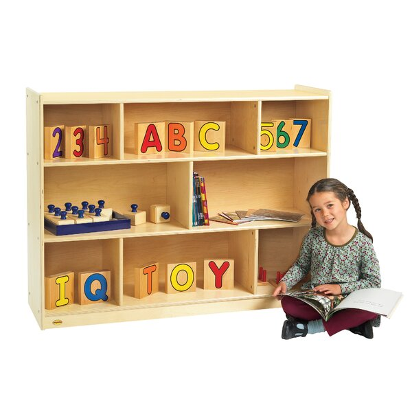 Value Line 8 Compartment Shelving Unit with Casters by Angeles