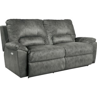 Charger Power La-Z-Time? Leather Reclining Sofa by La-Z-Boy