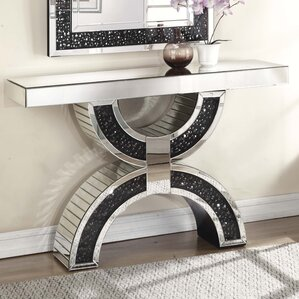 Blakes Rectangle Mirrored Console Table by R..