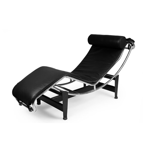 Willman Leather Chaise Lounge By Rosdorf Park