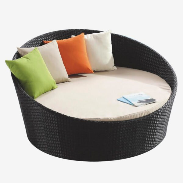 Round Patio Daybed With Sunbrella Cushions By Feruci by Feruci Coupon