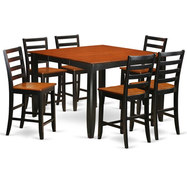 Parfait 7 Piece Counter Height Dining Set by Wooden Importers