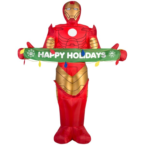 Airblown Iron Man with Banner S Large Marvel Inflatable by Gemmy Industries