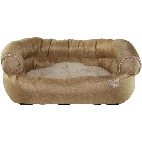 Luxurious Faux Linen Dog Sofa by Happy Tails