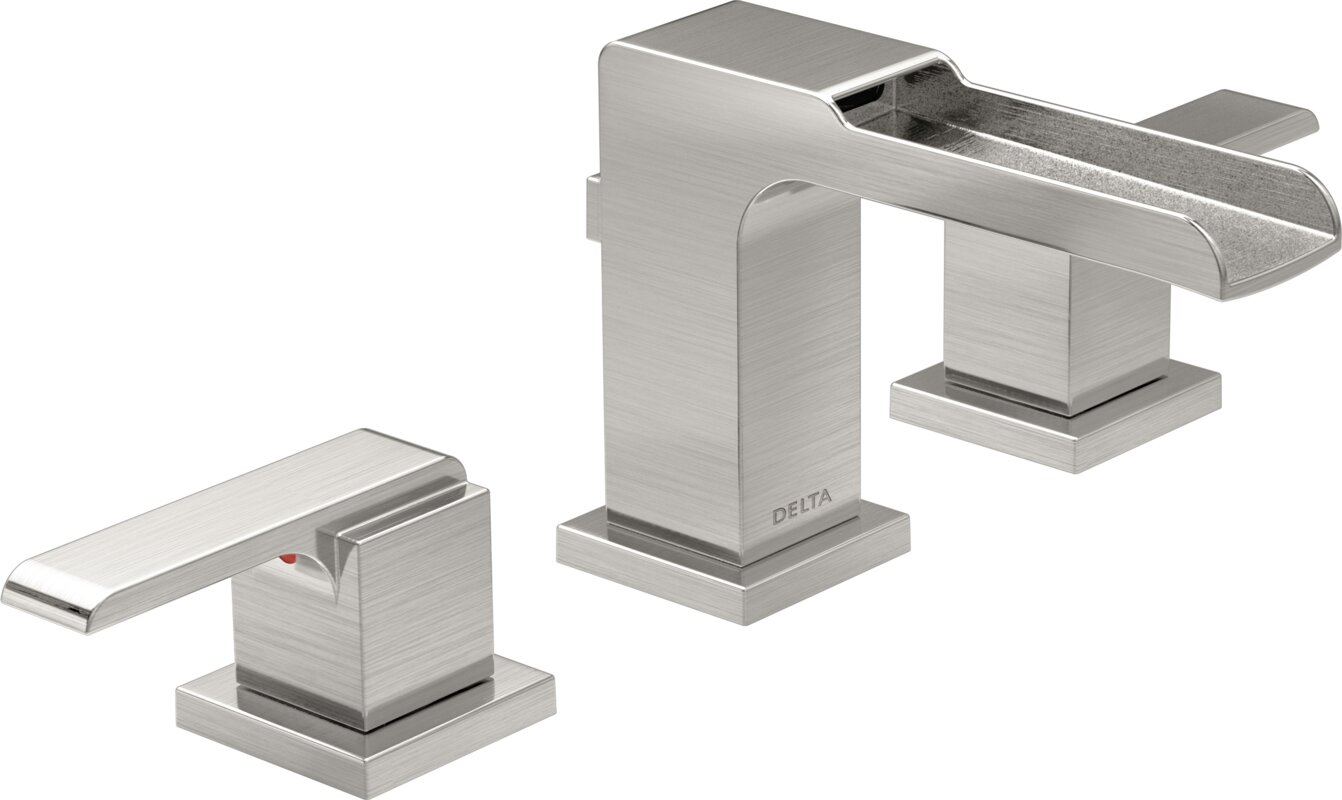Ara Mini Widespread Double Handle Bathroom Faucet With Drain Assembly And  Diamond Seal Technology