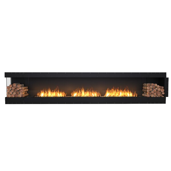 FLEX158 Left Corner Wall Mounted Bio-Ethanol Fireplace Insert by EcoSmart Fire